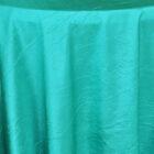 Rental Table Linen Crushed Taffeta Round Tablecloth - Jade