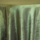 Rental Table Linen Crushed Taffeta Round Tablecloth - Moss Green