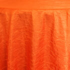 Rental Table Linen Crushed Taffeta Round Tablecloth - Orange