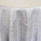 Rental Table Linen Crushed Taffeta Round Tablecloth - Platinum