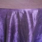 Rental Table Linen Crushed Taffeta Round Tablecloth - Regency