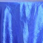 Rental Table Linen Crushed Taffeta Round Tablecloth - Royal Blue