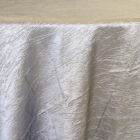 Rental Table Linen Crushed Taffeta Round Tablecloth - Silver