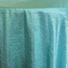 Rental Table Linen Crushed Taffeta Round Tablecloth - Tiffany Blue - Aqua
