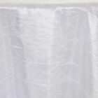 Rental Table Linen Crushed Taffeta Round Tablecloth - White