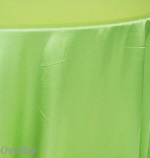 Rental Table Overlay Satin Square - Apple Green