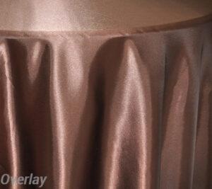 Rental Table Overlay Satin Square - Chocolate