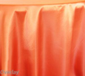 Rental Table Overlay Satin Square - Orange