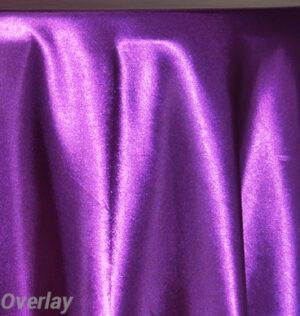 Rental Table Overlay Satin Square - Purple