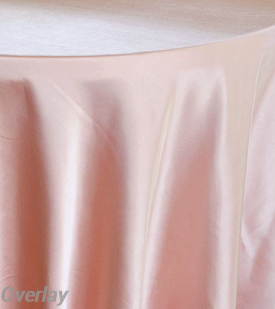 Rental Table Overlay Satin Square - Rose