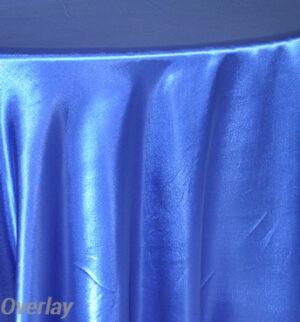 Rental Table Overlay Satin Square - Royal Blue