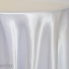 Rental Table Overlay Satin Square - White