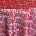 Rental Table Overlay Square Lace - Apple Red
