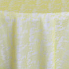 Rental Table Overlay Square Lace - Canary Yellow