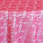 Rental Table Overlay Square Lace - Fuchsia