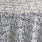 Rental Table Overlay Square Lace - Ivory