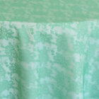 Rental Table Overlay Square Lace - Tiffany Blue - Aqua