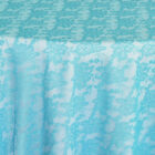 Rental Table Overlay Square Lace - Turquoise