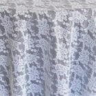 Rental Table Overlay Square Lace - White