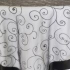 Rental Table Overlay Topper Embroidered Organza - Black