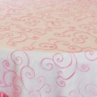 Rental Table Overlay Topper Embroidered Organza - Bubble Gum