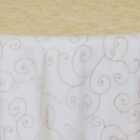 Rental Table Overlay Topper Embroidered Organza - Champagne