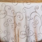 Rental Table Overlay Topper Embroidered Organza - Chocolate