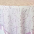 Rental Table Overlay Topper Embroidered Organza - Lavender