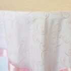 Rental Table Overlay Topper Embroidered Organza - Pink