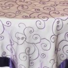 Rental Table Overlay Topper Embroidered Organza - Regency