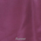 Rental Table Runner Satin - Plum