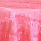 Rental Table Overlay Forest Taffeta Square - Coral