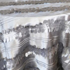 Rental Table Overlay Forest Taffeta Square - Silver
