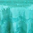 Rental Table Overlay Forest Taffeta Square - Tiffany Blue - Aqua