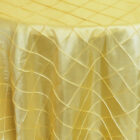 Rental Table Overlay Pintuck Taffeta Square - Canary Yellow