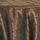 Rental Table Overlay Pintuck Taffeta Square - Chocolate