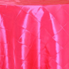 Rental Table Overlay Pintuck Taffeta Square - Fuchsia