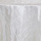 Rental Table Overlay Pintuck Taffeta Square - Ivory