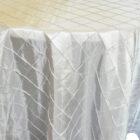 Rental Table Overlay Pintuck Taffeta Square - Platinum