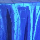 Rental Table Overlay Pintuck Taffeta Square - Royal Blue