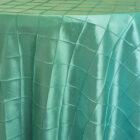 Rental Table Overlay Pintuck Taffeta Square - Tiffany Blue - Aqua