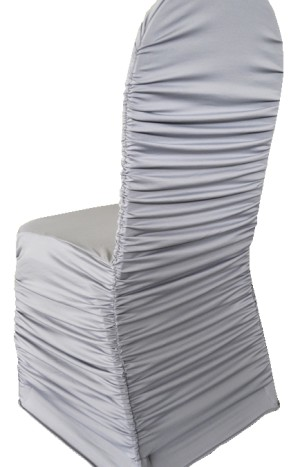 Rouge Spandex Chair Covers - Silver