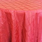Rental Round Pintuck Taffeta Tablecloth - Apple Red