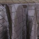 Rental Round Pintuck Taffeta Tablecloth - Black