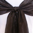 Rental Chair Sashes Crushed Taffeta - Black