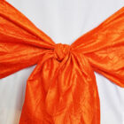 Rental Chair Sashes Crushed Taffeta - Orange