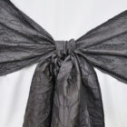 Rental Chair Sashes Crushed Taffeta - Pewter