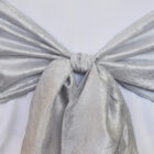 Rental Chair Sashes Crushed Taffeta - Platinum
