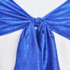Rental Chair Sashes Crushed Taffeta - Royal Blue