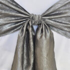 Rental Chair Sashes Crushed Taffeta - Silver
